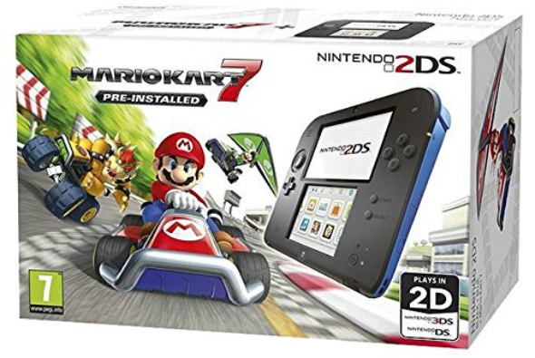 Nintendo 2DS Blue & Black Console with Mario Kart 7 - Taken from an article titled Christmas with Nintendo - Hardware bundles by DannyUK.com