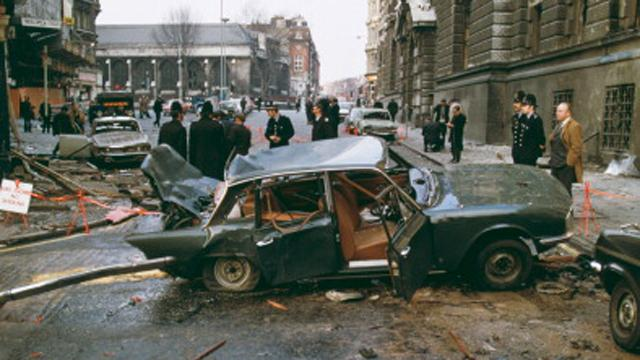 Don't give in to terrorism - IRA bombing in London - Old Bailey car bomb - Taken from an article by DannyUK.com. Photo by Michael Ward/Getty Images
