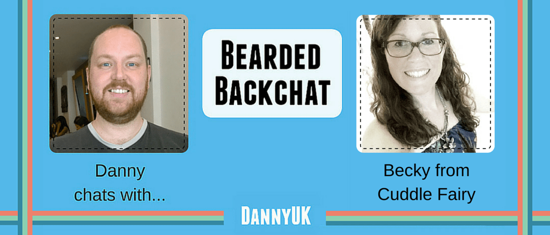 Bearded Backchat header with Becky from Cuddle Fairy