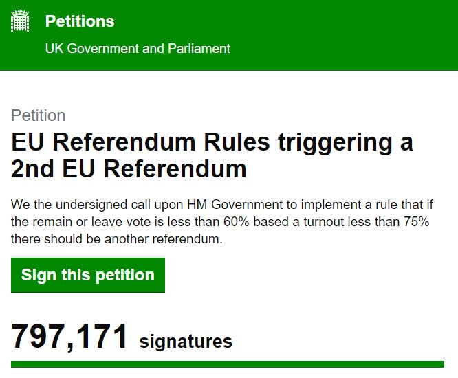 Petition for a second EU referendum