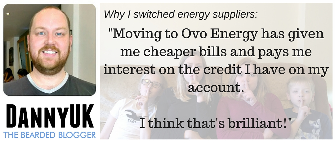 DannyUK Quote - Switching to Ovo Energy