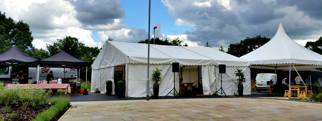 Spire Specialist Care Centre Chelmsford - The marquee, ready for the BBQ