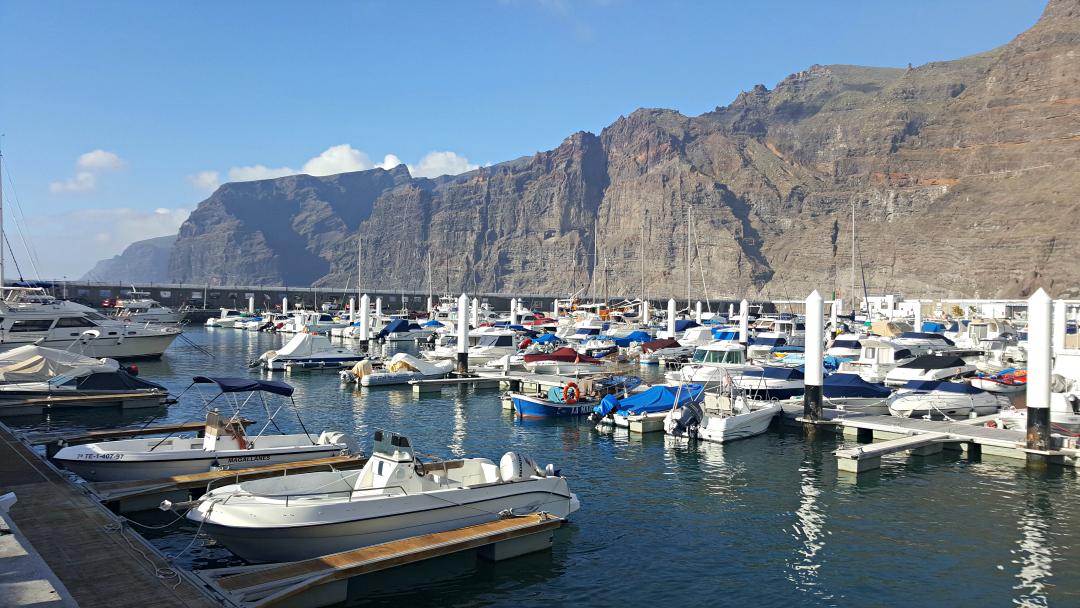 Los Gigantes Harbour in Tenerife