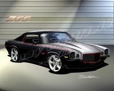 Custom Camaro Art by Danny Whitfield