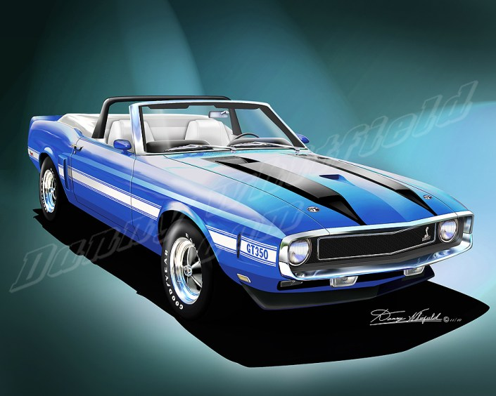 1970 FORD SHELBY MUSTANG GT 350 ART PRINTS BY DANNY