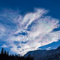 Colorful Clouds Over the Rockies