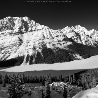 Canadian Rockies in Winter (Black & White Panoramas)