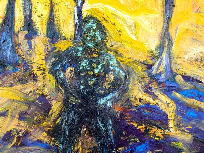 Hot Sun, Strong Man, Melting Trees (detail)