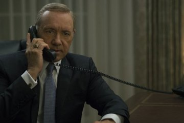 Kevin Spacey as President Frank Underwood