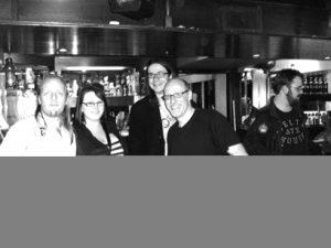 Hannah-Mae, Matt, JTA and I with Richard Wiseman.