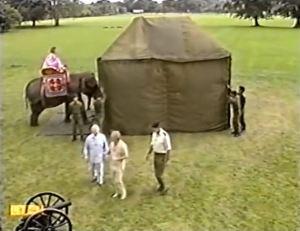 Paul Daniels makes an elephant disappear.