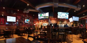 Bar with like a million TVs