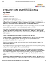 UTSA moves to plus/minus grading system