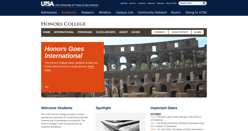 http://utsa.edu/honors