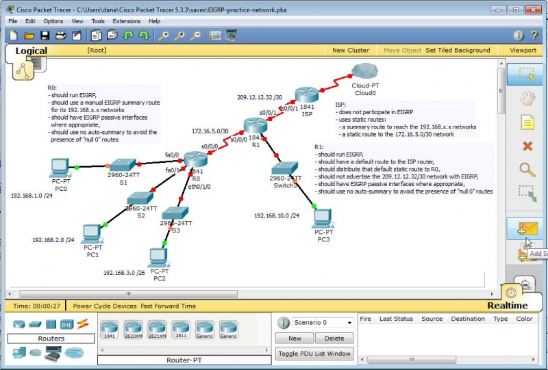 EIGRP Packet Tracer Lab Part 3