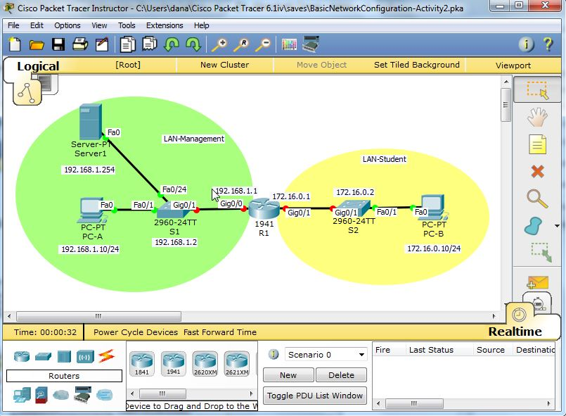 Basic Network Configuration PT Activity