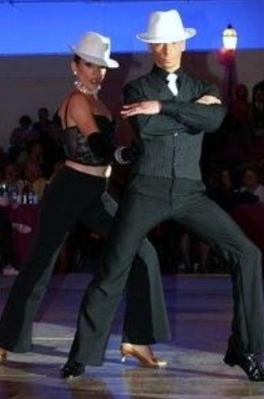 Les professeurs de danse Fabien et Laurence