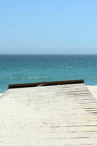 plage vue sur l'océan
