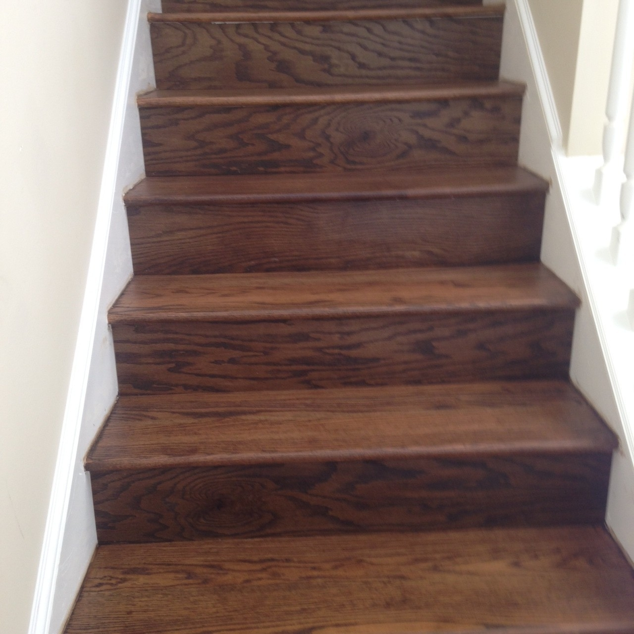 Professional Wooden Staircase Refinishing Jacksonville Florida   Sanding And Staining Stairs   Pine   Stair Railing   Wood Stairs   Stair Case   Stair Risers