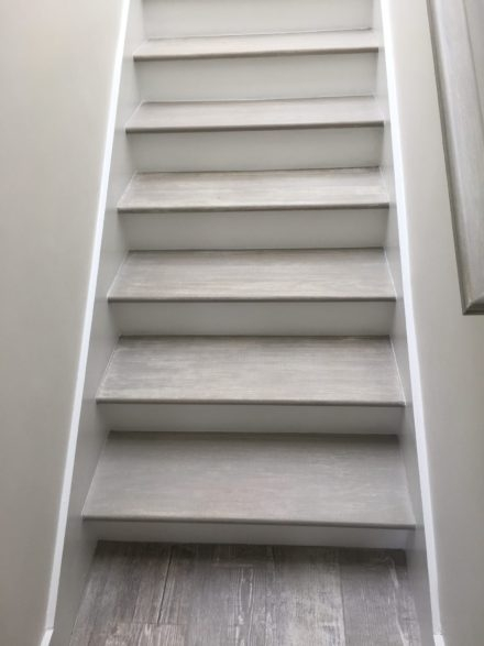 Staircases And Stair Treads In Jacksonville Florida | Grey Wood Stair Treads | Coloured | Marble | Low Cost | Gray Color | Porcelain