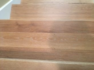 Wire Brushed White Oak Flooring And Staircase Marshview | White Oak Stair Treads Near Me | Hardwood Flooring | Quarter Sawn | Lowes | Wood | Staircase Railings