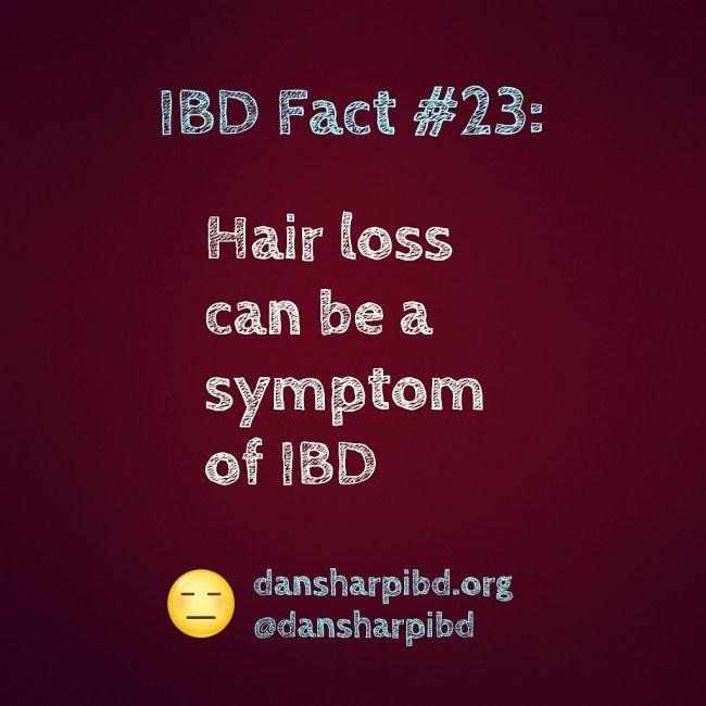 Hair loss can be a symptom of IBD