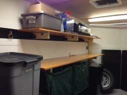 Stained Shelves Installed