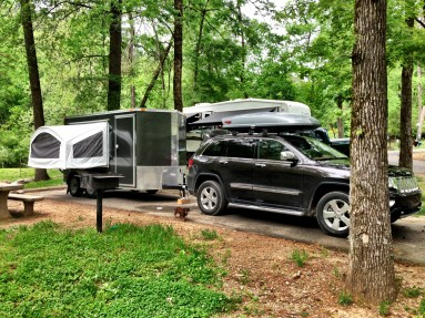 This was our first night spent in our trailer and we were very comfy! Our set up sure gained a lot of attention on our road trip.
