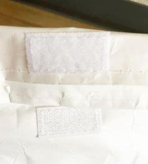 ミスターチーズケーキの保冷バッグのマジックテープ