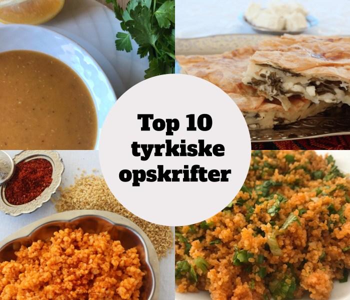 Top 10 tyrkiske opskrifter på bloggen