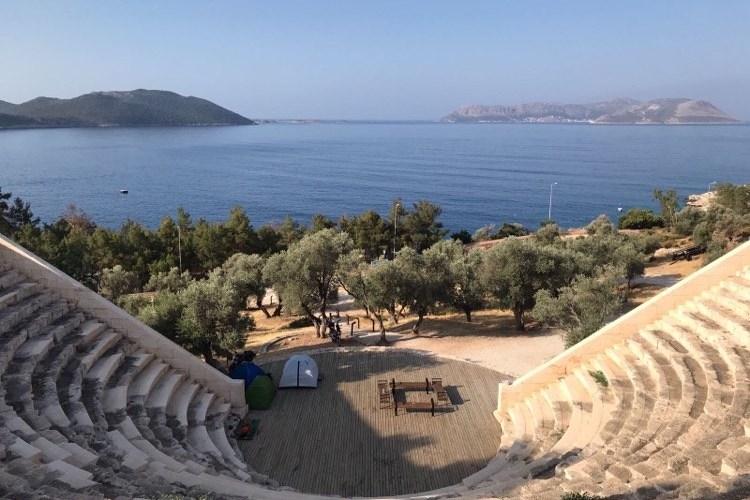 Antiphellos teatret i Kaş amfiteater i kas oplevelser i kas, seværdigheder i kas, tyrkiet blogger, amfi teatre i tyrkiet, oplevelser i tyrkiet, seværdigheder i tyrkiet