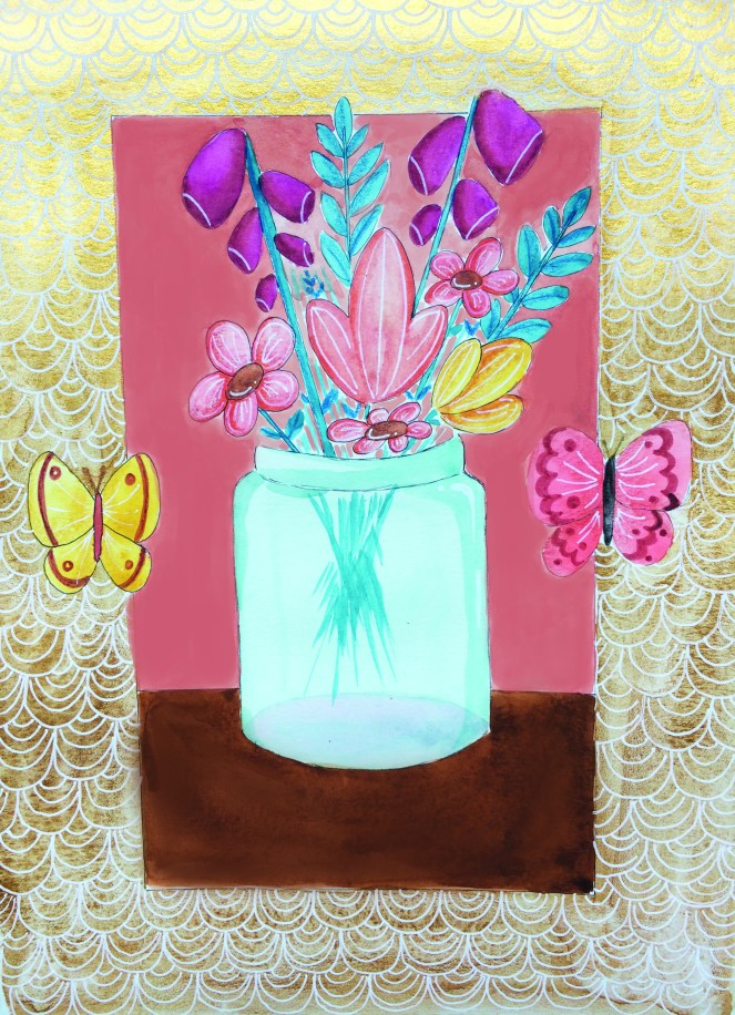 fleurs peinture