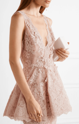 Tulle-paneled guipure