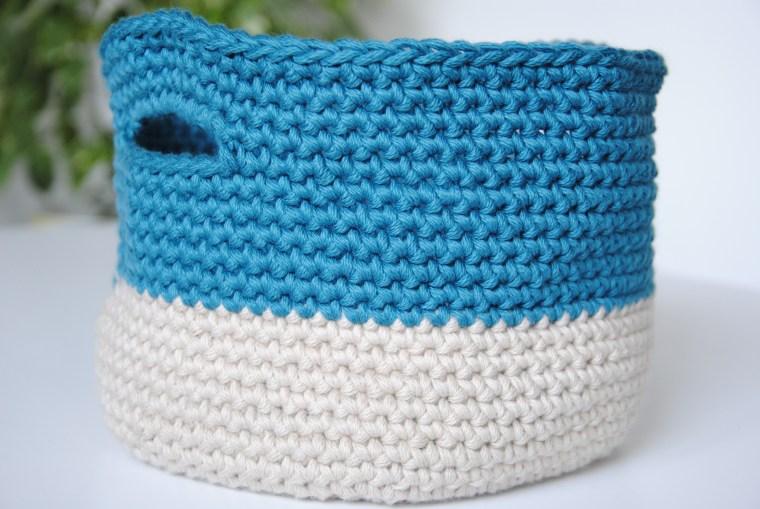 Tuto Une Corbeille Panier En Crochet Avec Le Coton Dmc Natura Xl