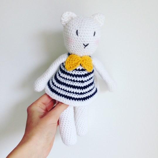 Colette la minette - Doudou en crochet