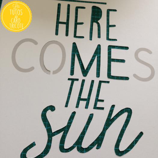 Here comes the sun - Kirigami ou papercut