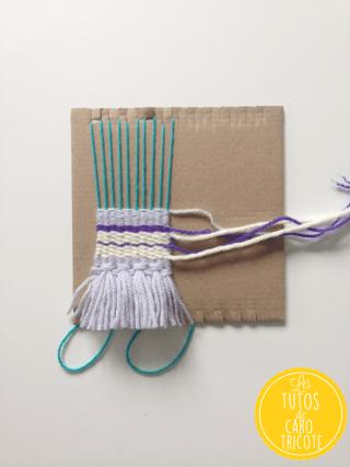 Tuto : pendentif en mini tissage de laine