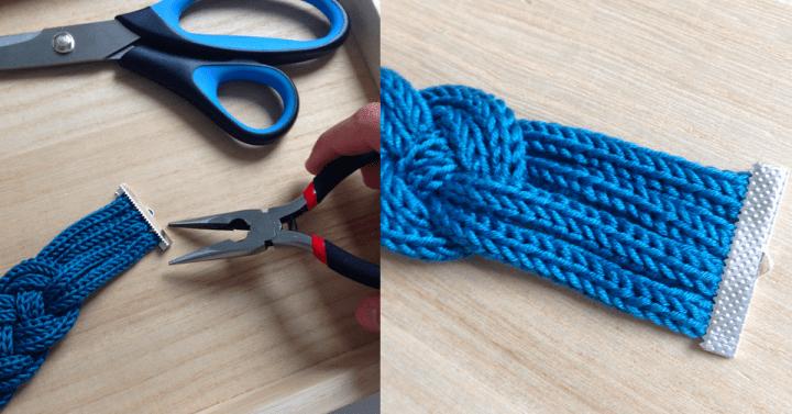 Tuto : un bracelet en tricotin