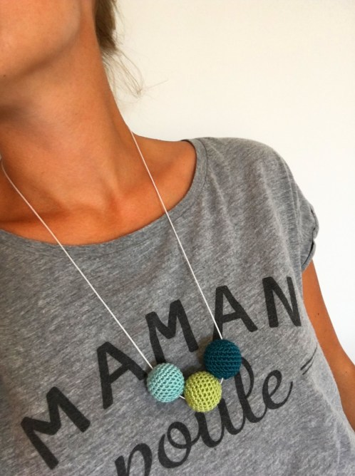 Tuto : Collier de perles crochetées