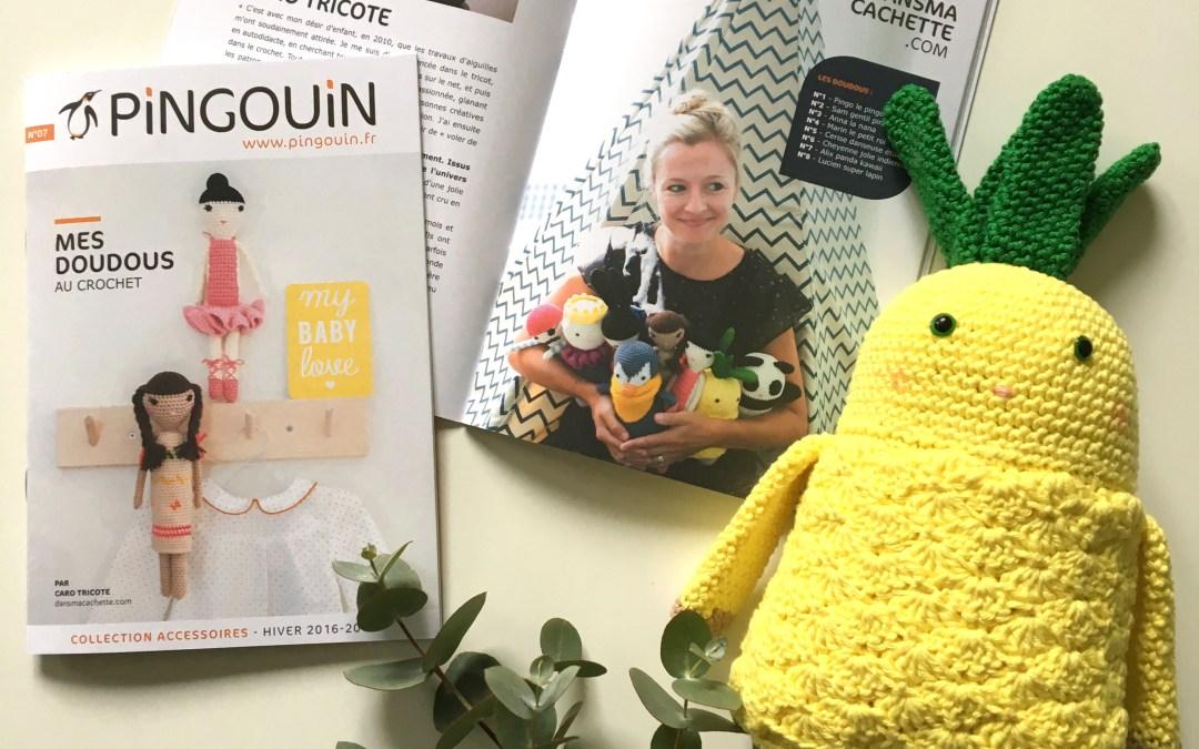 Mes doudous au crochet – Mini catalogue Caro Tricote X Pingouin enfin disponible – Les doudous de Caro Tricote