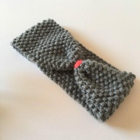 Tuto : un headband ou bandeau tricoté au point de riz