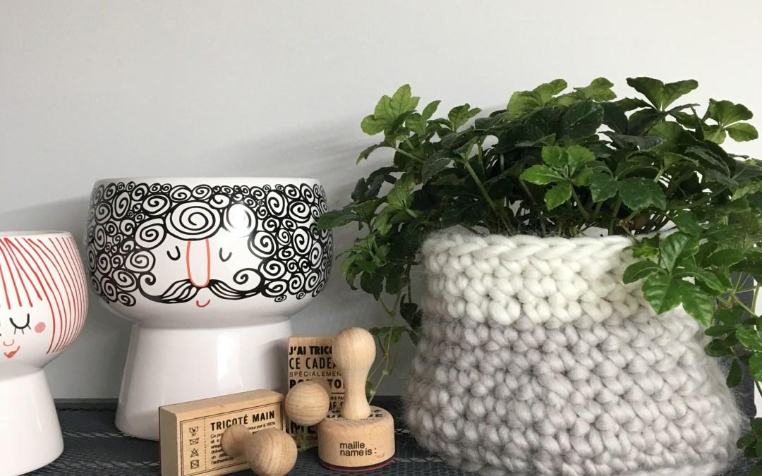 Un cache-pot tout en laine pour chouchouter mes plantes vertes – Tuto crochet – Maille name is