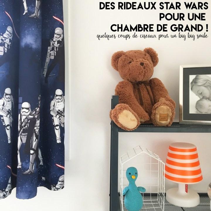 Quand sa passion grimpe aux rideaux – J'ai cousu des rideaux Star Wars dans la chambre de mon grand garçon