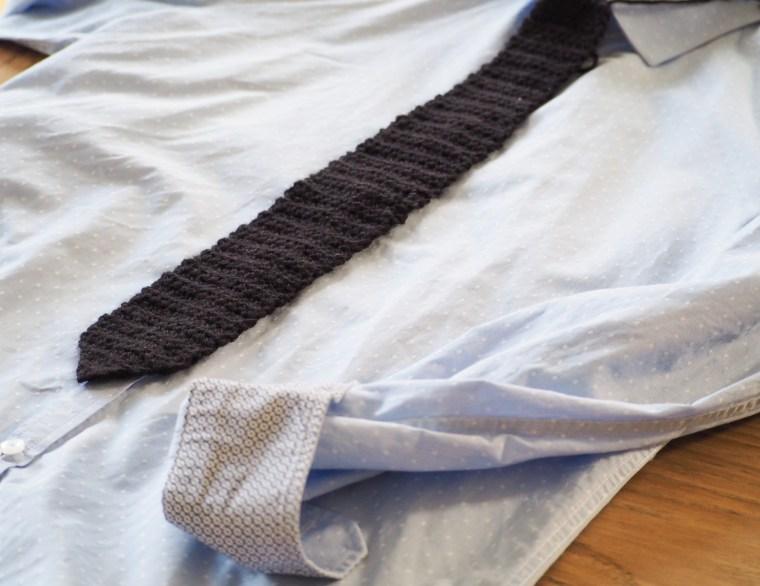 Tuto - Cravate et Col Claudine au crochet