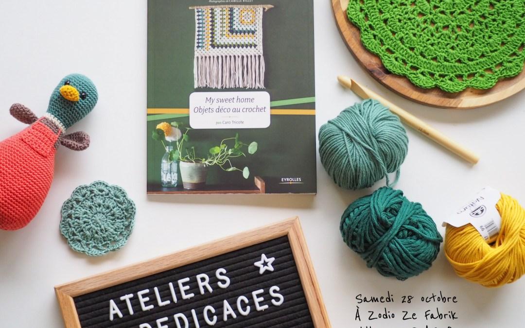 Atelier et dédicaces – C'est ce samedi 28 octobre à Villeneuve d'Ascq. Et si on prenait le temps de nous rencontrer ? Ouvert à tous et gratuit