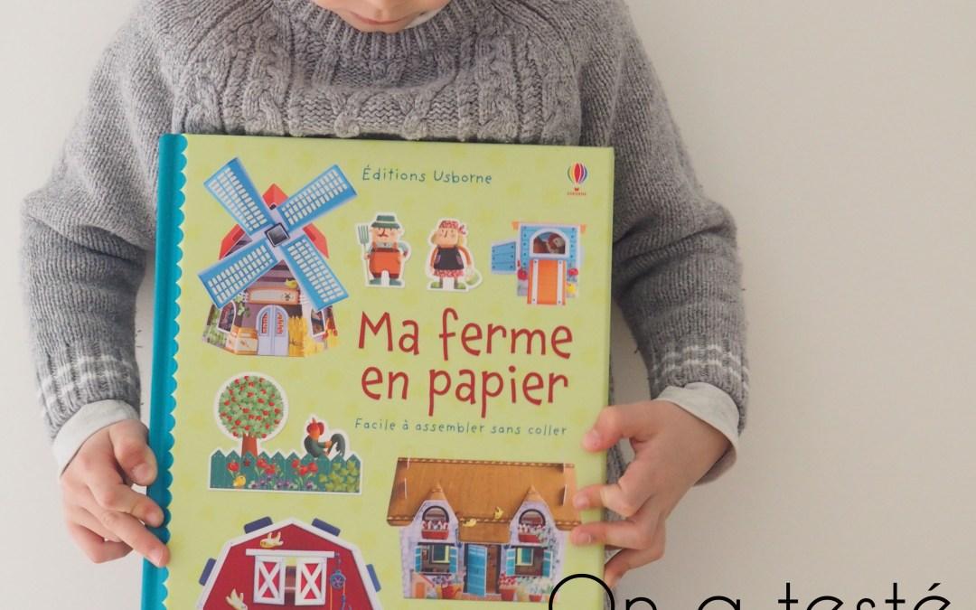 Leur apprendre le bricolage et la minutie avec un super livre : Ma ferme en papier – Youpi c'est mercredi !