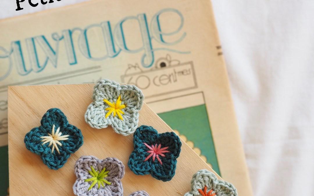 Tuto crochet – Hortensia ou pensée
