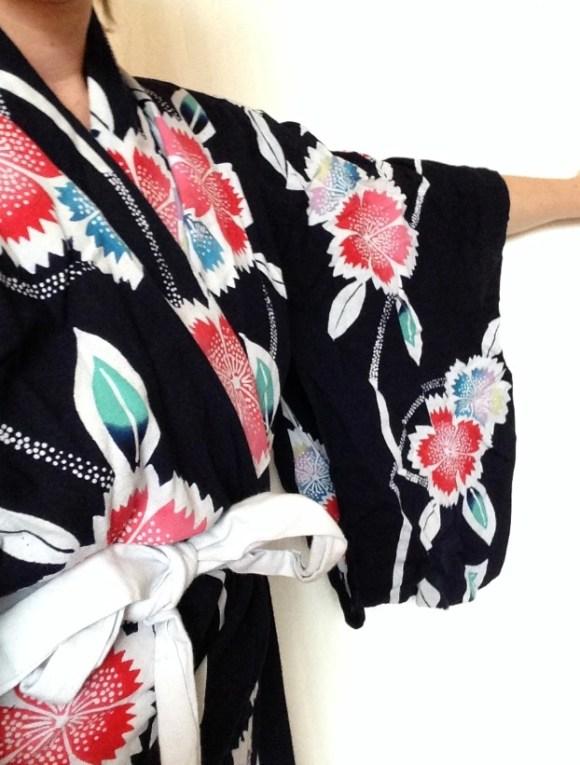 véritable yukata rammené du Japon