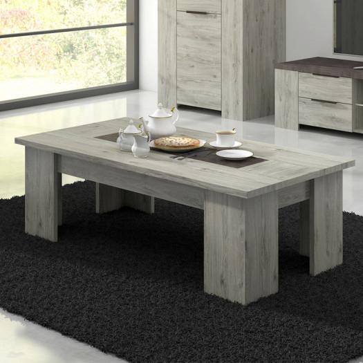 table basse rectangulaire bois gris beton riucko