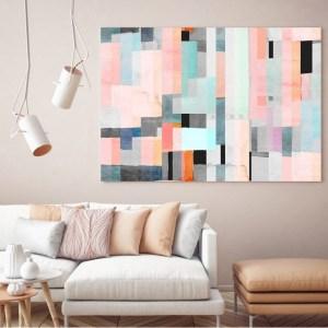 tableau décoratif imprimé multicolore